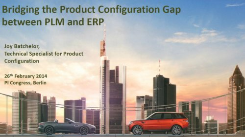 Bridging the Product Configuration Gap Between PLM and ERP